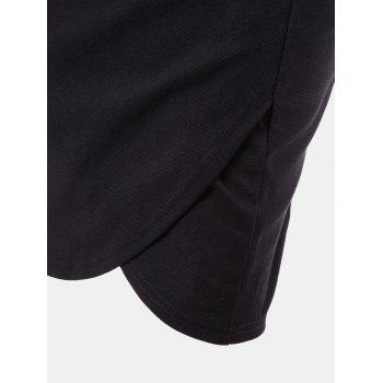 Women Fold High Waist Business Pencil Skirt - BLACK 2XL