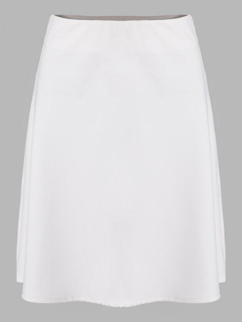 Women's A-line Elegant Business Skirt - WHITE S