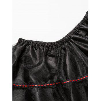 Plus Size Gothic Lace Corset Skirt - RED 6XL