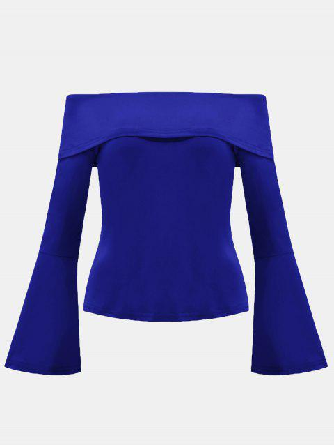 Women's Dew Shouleder With Horn Sleeve Tops - BLUE M