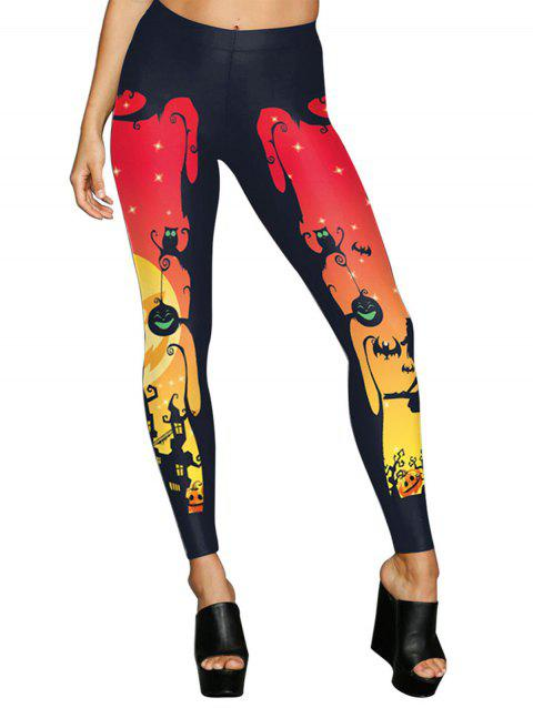 2018 Halloween Womens Popular Best Printed Fashion Leggings - RED S
