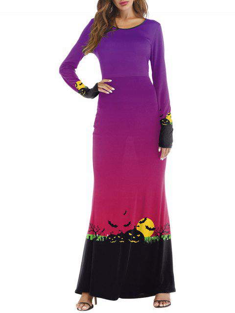 Womens Halloween Day Costume Funny Cosplay Maxi Dress - RED S