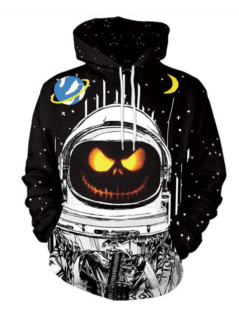 Halloween  3D Patterns Print Athletic Sweaters Hoodies - BLACK L