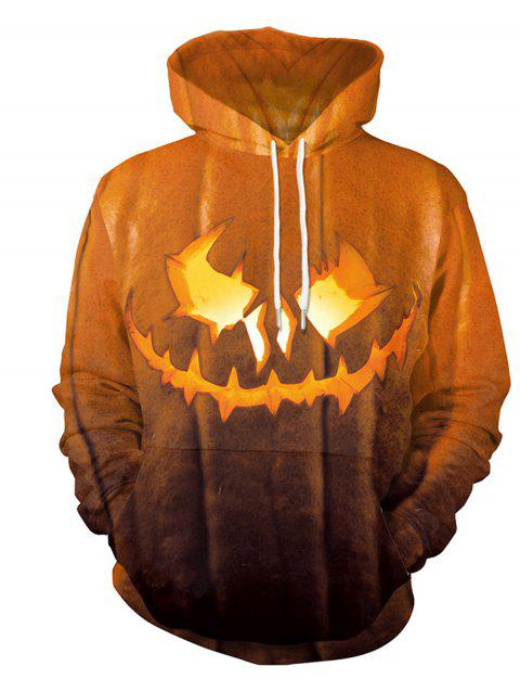 Halloween  3D Patterns Print Athletic Sweaters Hoodies - BEE YELLOW XL