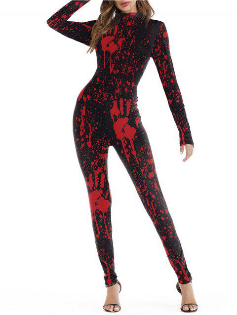 Womens Halloween Role Playing  Long Pants Jumpsuit  Tights - BLACK L