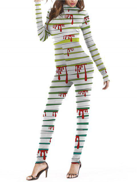 Womens Halloween Role Playing  Long Pants Jumpsuit  Tights - GREEN L