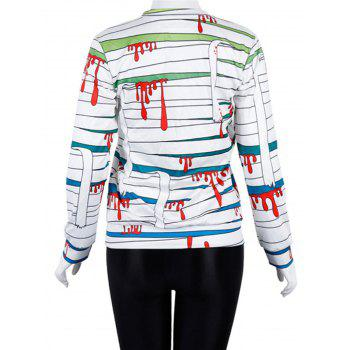 Womens Halloween Sweatshirt Long Sleeve Pullover  Tops - GREEN M