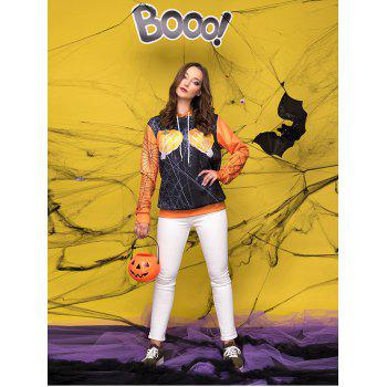 Halloween  3D Patterns Print Athletic Sweaters Hoodies - SCHOOL BUS YELLOW L
