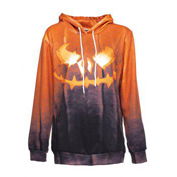 Halloween  3D Patterns Print Athletic Sweaters Hoodies - BEE YELLOW 2XL