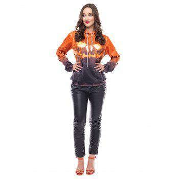 Halloween  3D Patterns Print Athletic Sweaters Hoodies - BEE YELLOW L