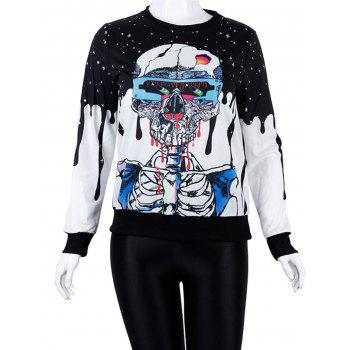 Halloween Unisex Casual 3D Patterns Print Athletic Sweaters - BLUE S