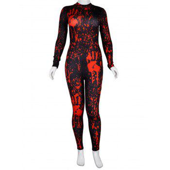 Womens Halloween Role Playing  Long Pants Jumpsuit  Tights - BLACK XL