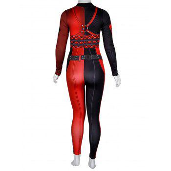Womens Halloween Role Playing  Long Pants Jumpsuit  Tights - RED L