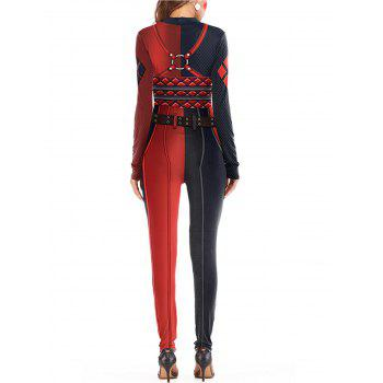Womens Halloween Role Playing  Long Pants Jumpsuit  Tights - RED M