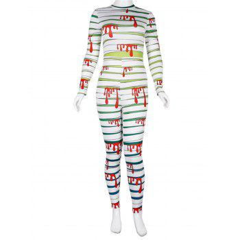 Womens Halloween Role Playing  Long Pants Jumpsuit  Tights - GREEN XL