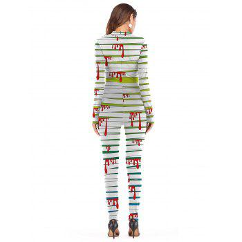 Womens Halloween Role Playing  Long Pants Jumpsuit  Tights - GREEN S