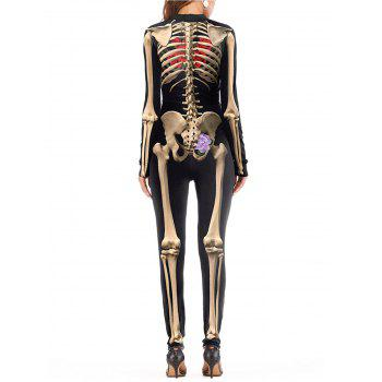 Womens Halloween Role Playing  Long Pants Jumpsuit  Tights - YELLOW XL
