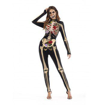 Womens Halloween Role Playing  Long Pants Jumpsuit  Tights - YELLOW L