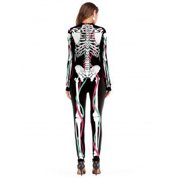 Womens Halloween Role Playing  Long Pants Jumpsuit  Tights - WHITE XL