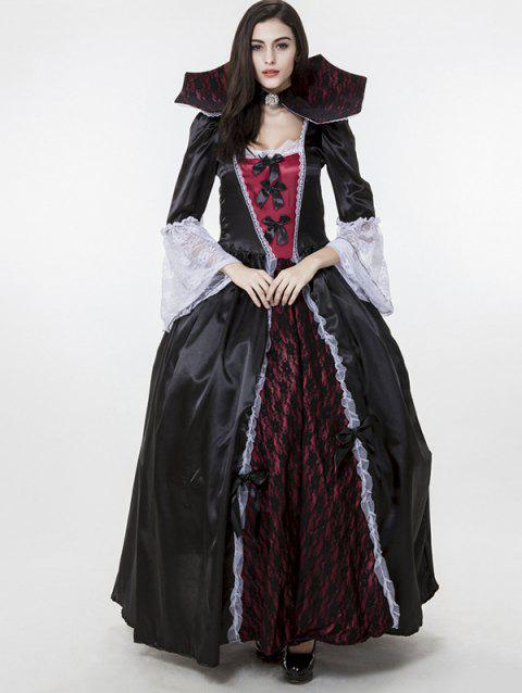 Halloween Black Vampire Costume For Woman - BLACK ONE SIZE