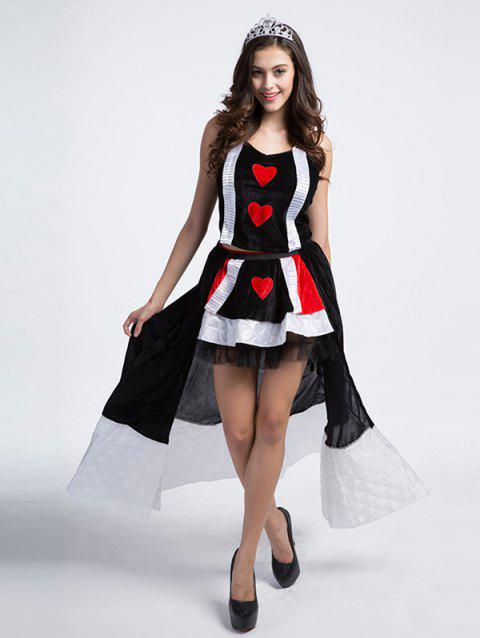 Princess Costume In  Poker Pattern - BLACK M