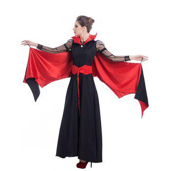 Halloween Vampire Costume Dress For Women - RED/BLACK S