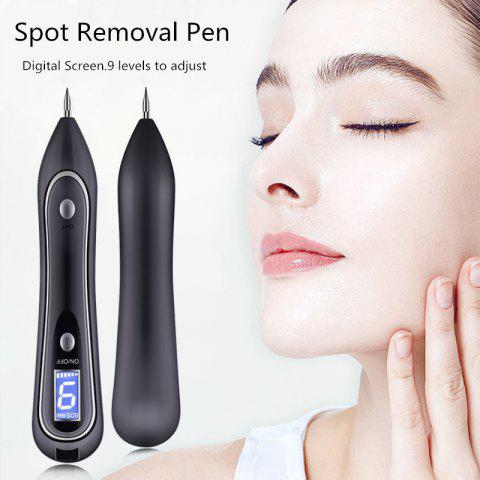 Portable Electric Laser Freckle Dot Mole Dark Spot Pen Tattoo Removal Pen Beauty Instrument Skin Care Machine - BLACK