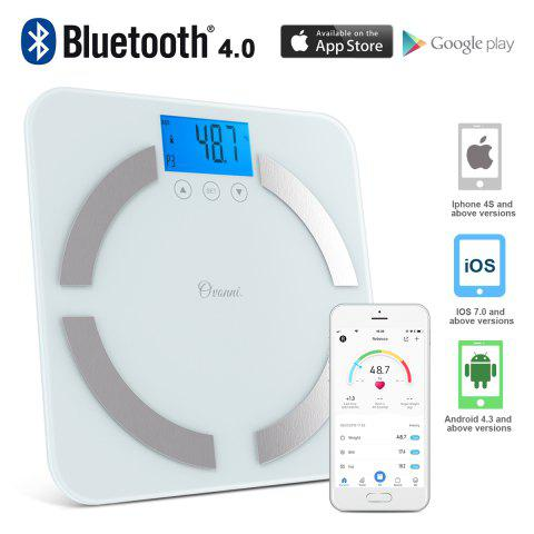 OVONNI Bluetooth Body Fat Scale with IOS and Android App Smart Wireless  Digital Scale for Body weight, Body Fat, Water, Muscle Mass, BMI, Bone Mass