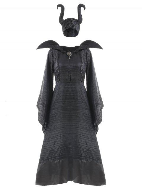 Maleficent Costumes Adlut Sexy Black Halloween Costumes - BLACK XL