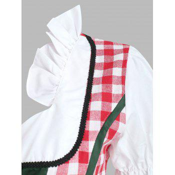 Women's Cosplay Beer Costume Maid - CHECKED L