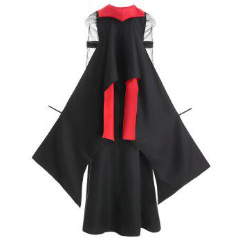 Halloween Vampire Costume Dress For Women - RED/BLACK M