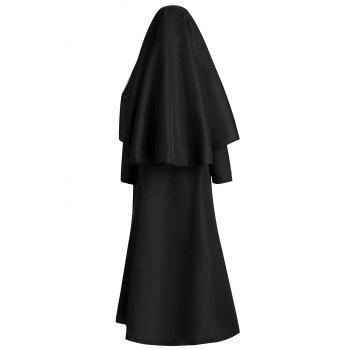 Women's Nun Costume Cosplay Halloween Career Primitive Festival/Holiday Halloween Costumes - BLACK ONE SIZE