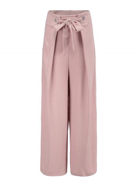 Yoga dance casual female trousers wide leg pants - PINK S