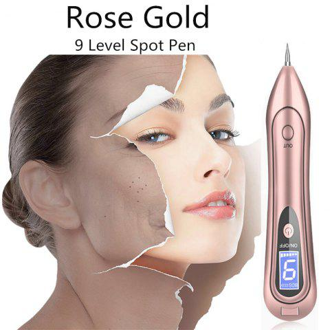Portable Electric Laser Freckle Dot Mole Dark Spot Pen Tattoo Removal Pen Beauty Instrument Skin Care Machine - ROSE GOLD