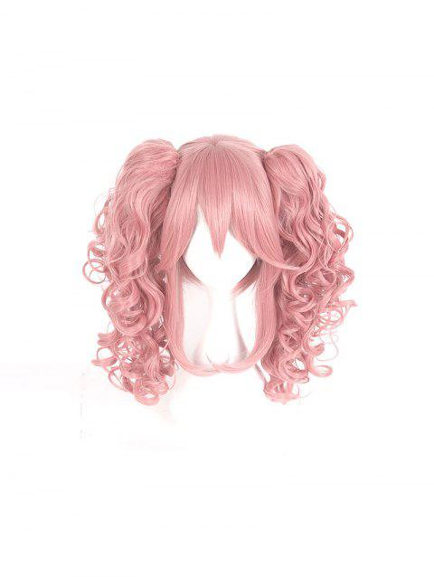 Girl's 40cm Cosplay Lolita Hair Wig Women Cute Short Wig - ROSE