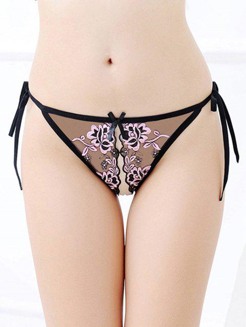 421b0370a62 17% OFF  2019 Sexy Embroidered Lace-Up Placket Panties Underwear In ...
