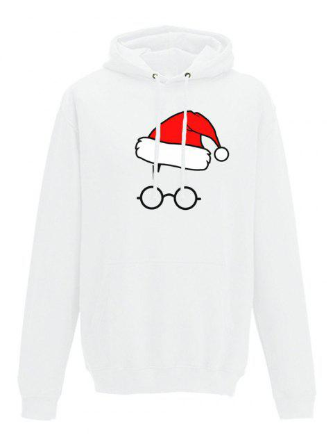 New Arrival Sweater Women Pullover Ladies Hooded Casual Draw Cord Christmas Hat Style Long  Sleeve Pullover - WHITE XL