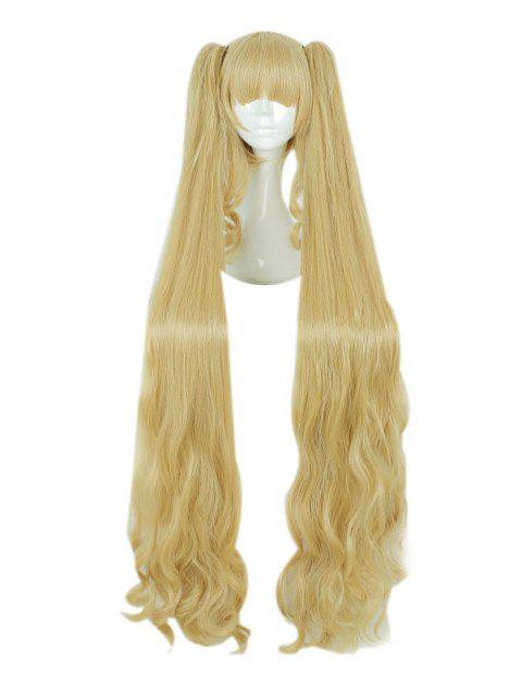 Girl's 120cm Long Cute Gold Curle Cosplay Wig Party Hair Wig - GOLDENROD