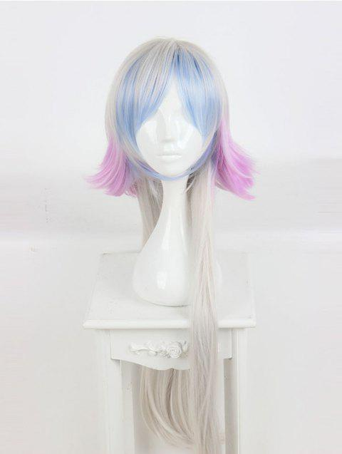 Women's Long Colorful Highlights Cosplay Wig Custom Party Wigs - multicolor