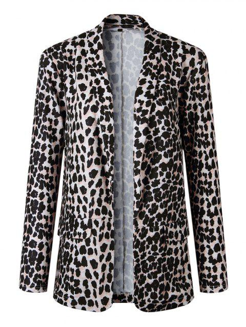 Womens Fashion Animal Print Leopard Cheetah Formal Suit Jacket - LEOPARD L