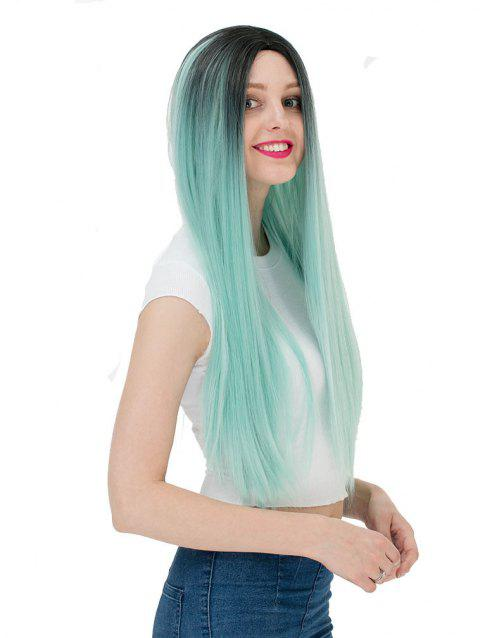 Women's Fashion Long Straight Highlights Hair Wig Colorful Casual Party Wig - 001