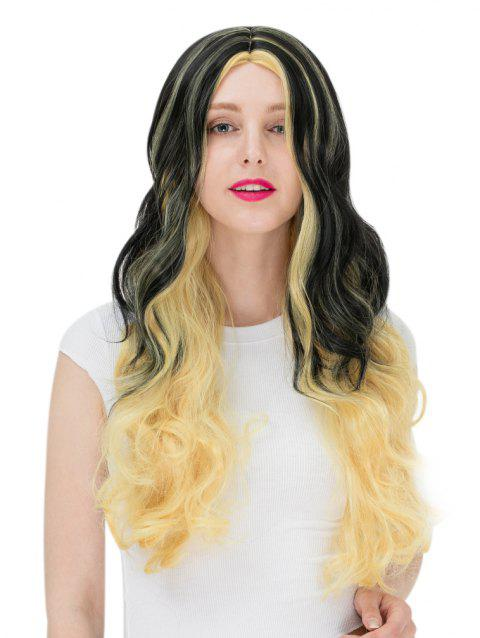 Women's Fashion Colorful Highlights Wavy Hair Ladies Party Wigs - 001