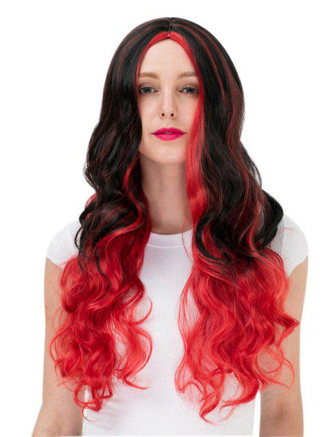 Women's Fashion Colorful Highlights Wavy Hair Ladies Party Wigs - 002