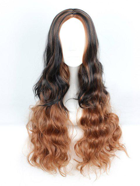 Women's Fashion Colorful Highlights Wavy Hair Ladies Party Wigs - 005