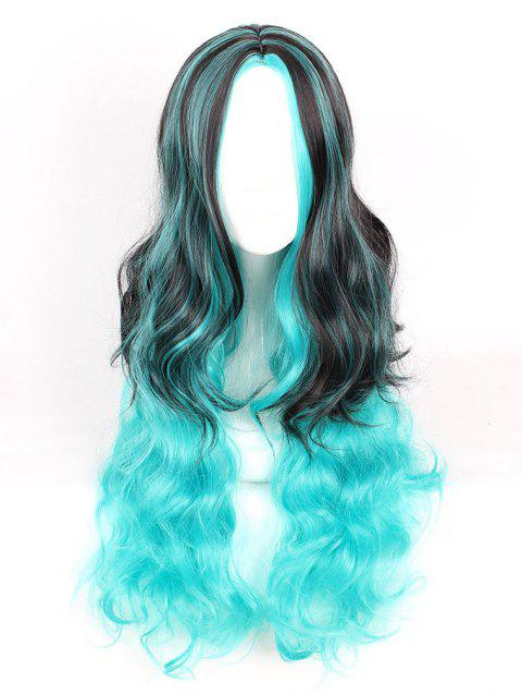 Women's Fashion Colorful Highlights Wavy Hair Ladies Party Wigs - 006
