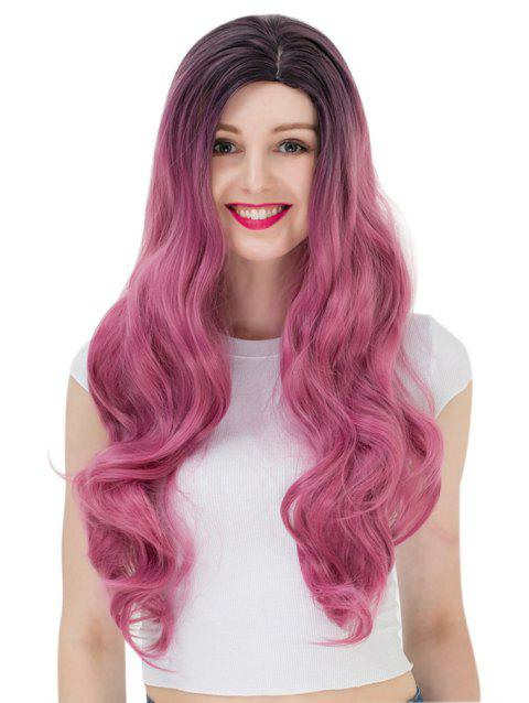 Women's Long Wavy Highlights Hair Wig Party Wigs - 002