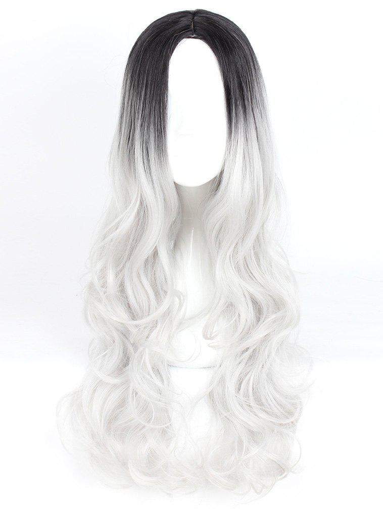 Women's Long Wavy Highlights Hair Wig Party Wigs - 004