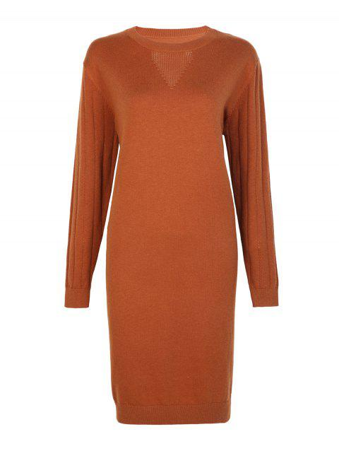 Casual Blended Sweater Dress - CARAMEL ONE SIZE