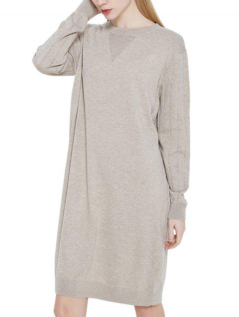 Casual Blended Sweater Dress - APRICOT ONE SIZE