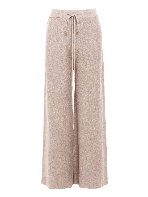 Blended Wide-leg Pants - APRICOT ONE SIZE